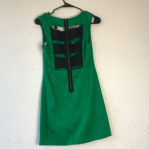 "BCBGMaxazria Green "" Hanne"" mini dress siz…"